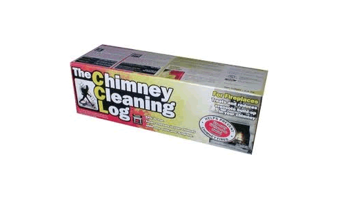 Use chimney cleaning logs to help prevent chimney fires