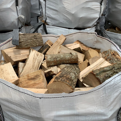 MIXED KILN DRIED ASH, HORNBEAM & BIRCH WOOD LOGS - FIREWOOD -  BULK BAGS