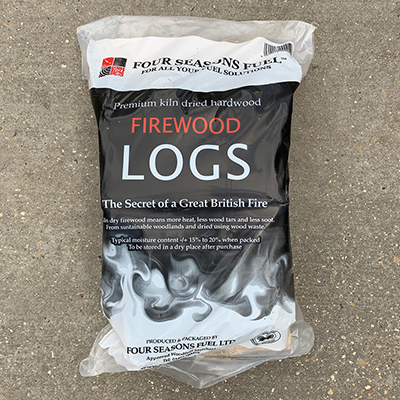 "KILN DRIED - Logs in Handy Bags "" Delivered in min of 5 bags """