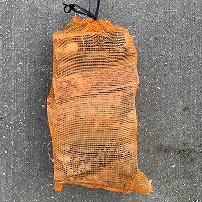 SEASONED LOGS - Hardwood Netted bags ( Min order of 5 bags)