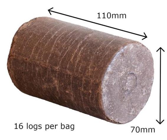 Coffee Log Briquettes Wood And Oak Nuggets